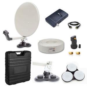 camping koffer sat anlage digital lnb koax kabel set. Black Bedroom Furniture Sets. Home Design Ideas