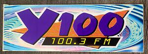 Early Y100 Philadelphia Radio 100.3 bumper sticker