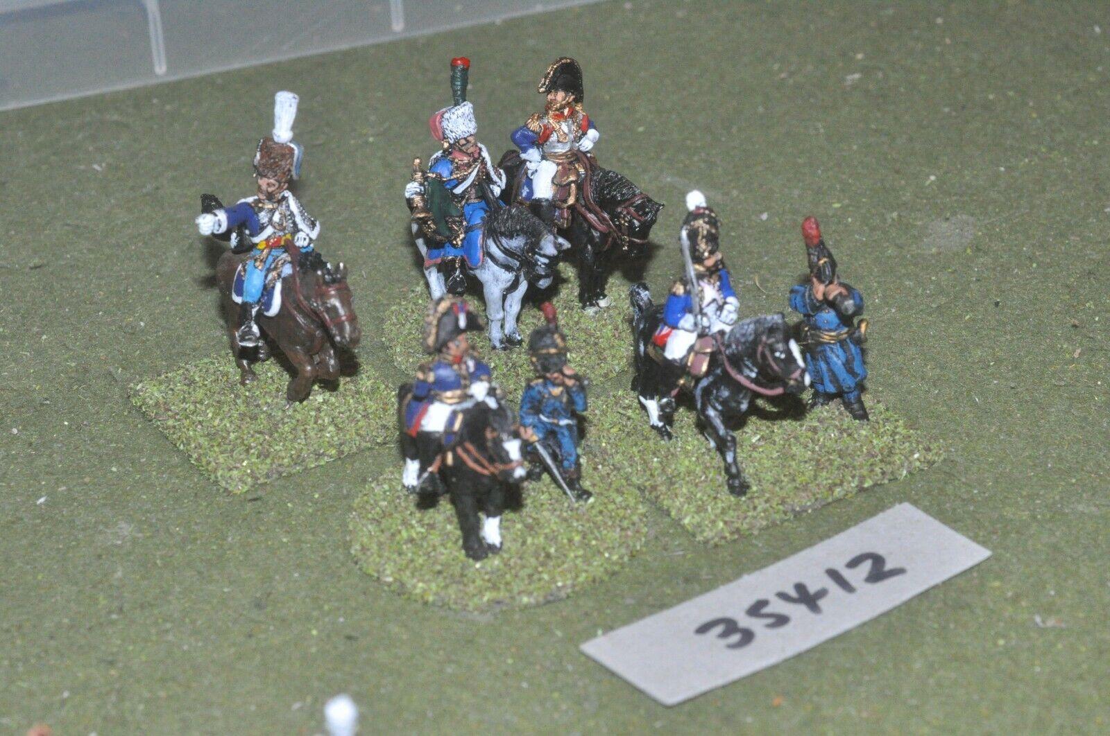 se descuenta 25mm napoleónicas francés-oficiales 7 figuras-comando (35412) (35412) (35412)  liquidación hasta el 70%