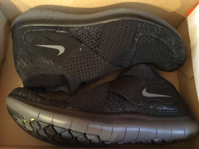 a55ac6fae4 New Nike Mens Free RN Motion FK 2017 Running Shoes 880845-003 Sz 10 Black