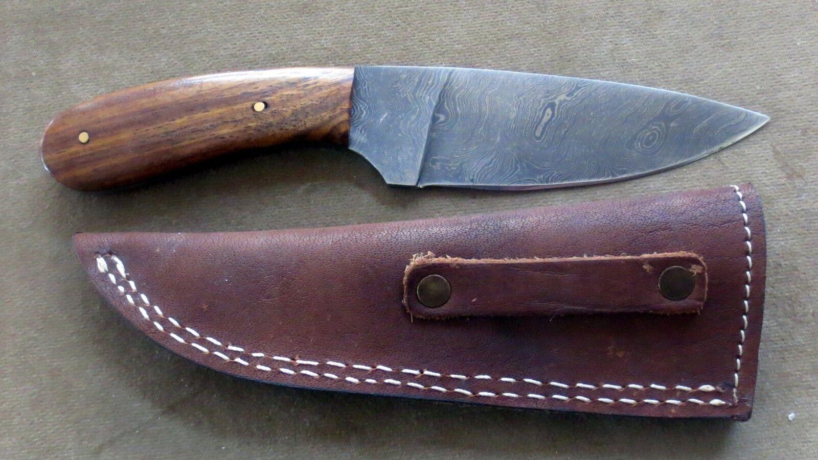 Anka Messer - - - Damastmesser-Taschenmesser-Jagdmesser stabile Gürtel Leder Scheide 062ddf