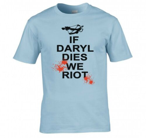 """THE WALKING DEAD /""""IF DARYL DIES WE RIOT/"""" T SHIRT"""
