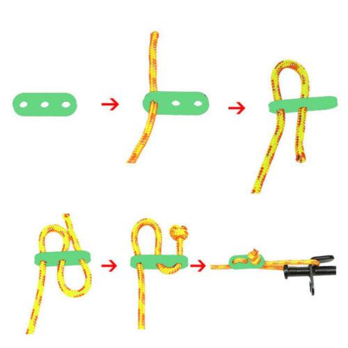 10Pc Glow in Dark Plastic Tent Lock Rope Fastener Adjuster Guyline Tensioner
