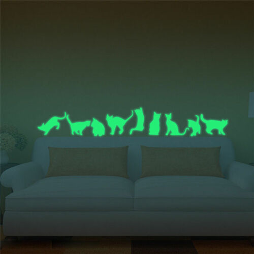 Playful Cat papier peint lumineux Wall Sticker électroluminescente Home Furnishing decor