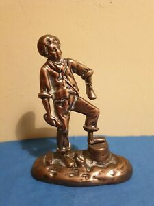 Vintage-Cast-Brass-Shoe-Shine-Boy-Figurine-485gm