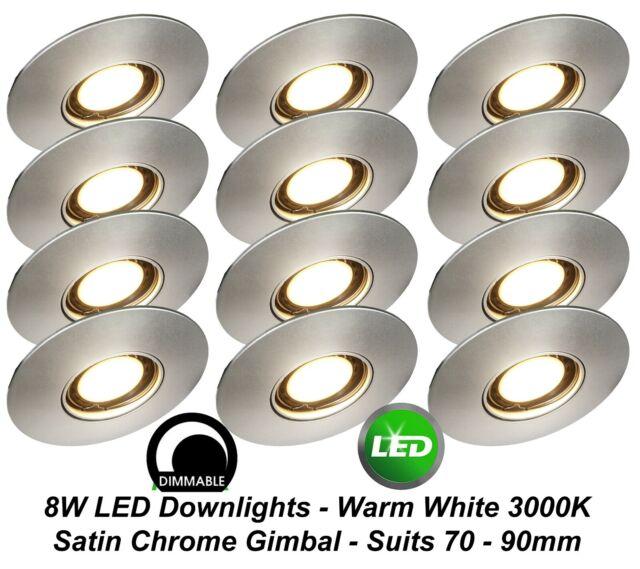 Satin Chrome Low Voltage Gimbal Downlight