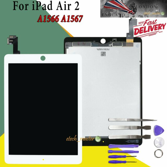 LCD For Apple iPad Air 2 Replacement Touch Screen Digitizer A1566 A1567 White UK
