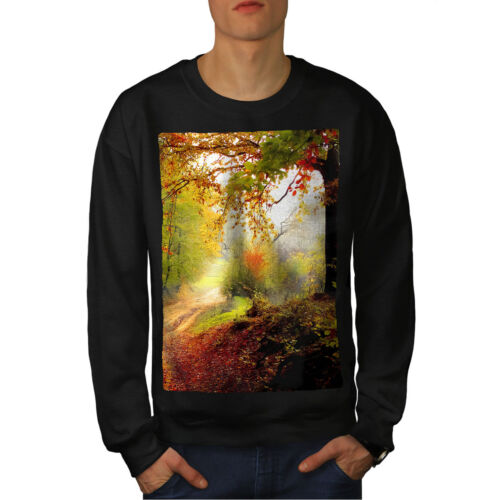 Nature Forest Black Nature New Felpa uomo Autumn YIWn5fw1qf
