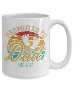 Funny Proud New Dad Est 2021 Dad Gifts Coffee Mug Funny Coffee Cup Gift Men W...