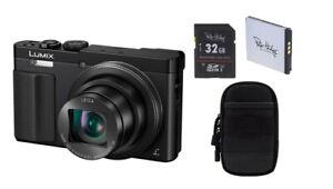 Panasonic DMC-TZ71 EG-K + Zubehörpaket 2.Akku, 32GB SDHC, Tasche
