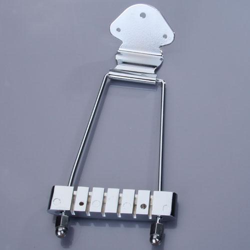 Chrom 6-saitige Trapez Tailpiece Saitenhalter Für Archtop E-Gitarre