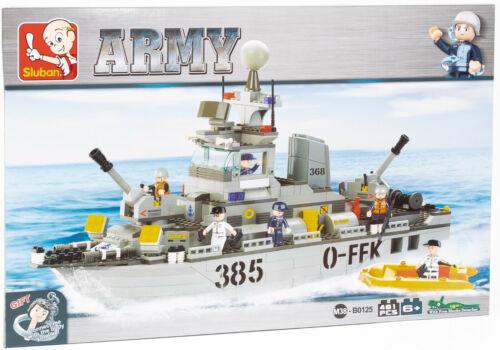 Sluban m38-b0125 Army Destroyer bateau avec personnages et accessoires NOUVEAU//Neuf dans sa boîte