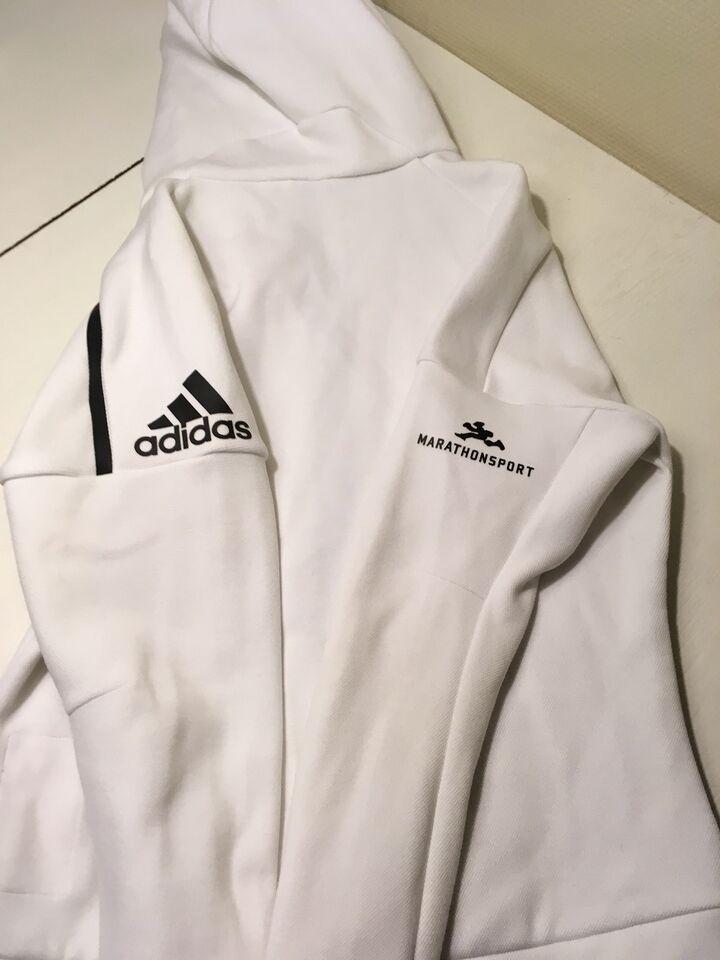 Trøje, Hvid dame hoodie. , Adidas – dba.dk – Køb og Salg af