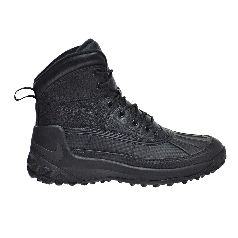 d96d4161c33 Nike Kynwood Triple Black Waterproof Leather Duck Boots 862504-001 Men's  Shoes