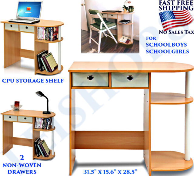 SMALL DESK FURNITURE FOR STUDENTS KIDS COMPUTER APARTMENT COLLEGE DORM  BEDROOM