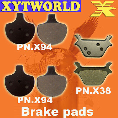 New Performance Plus Organic Brake Pads Harley Davidson FXRS Rear 1990-1993