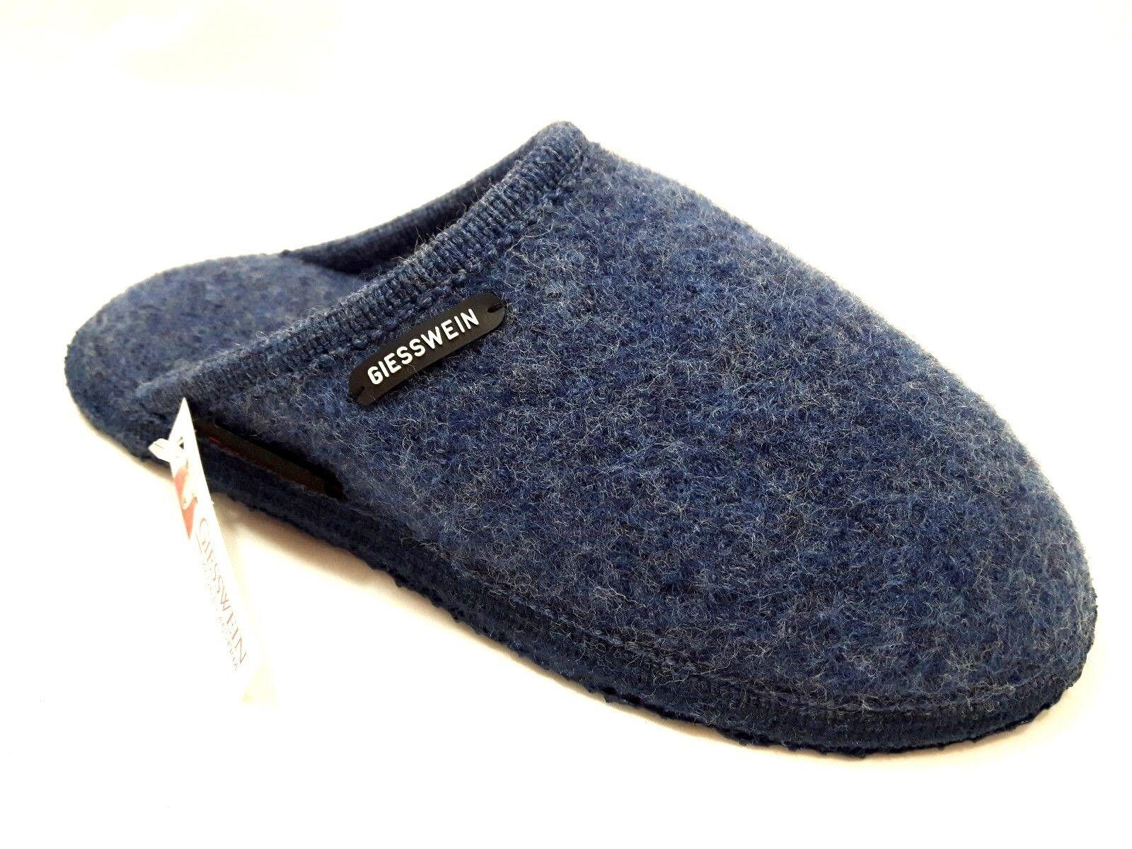 Ciabatte Pantofole GIESSWEIN TINO jeans blu donna uomo unisex lana