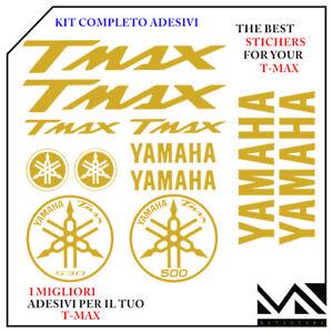 KIT 12 PEZZI SERIE DI ADESIVI YAMAHA TMAX  T- MAX 500 ANNO 2001 2002 COLORE ORO