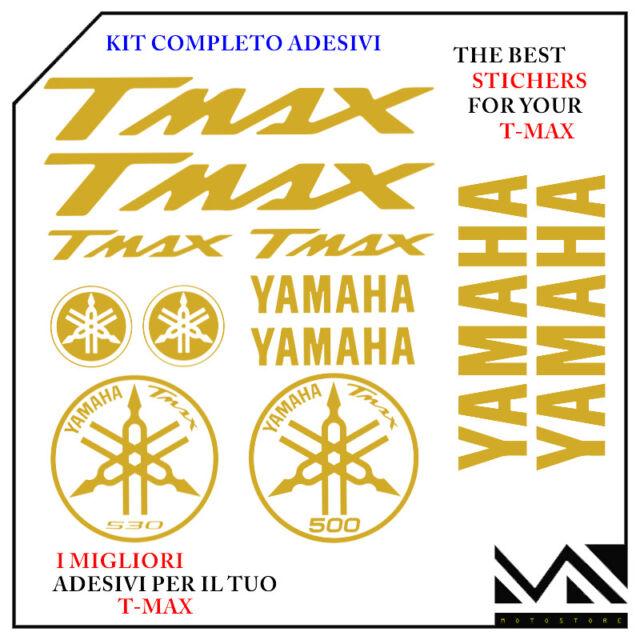 KIT 12 PEZZI SERIE DI ADESIVI YAMAHA TMAX  T- MAX 500 ANNO 2005 2006 COLORE ORO