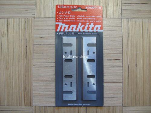 "2PC HSS Makita 5-3//8/"" Planer Blades for Makita 1804N 793011-9 136mm"
