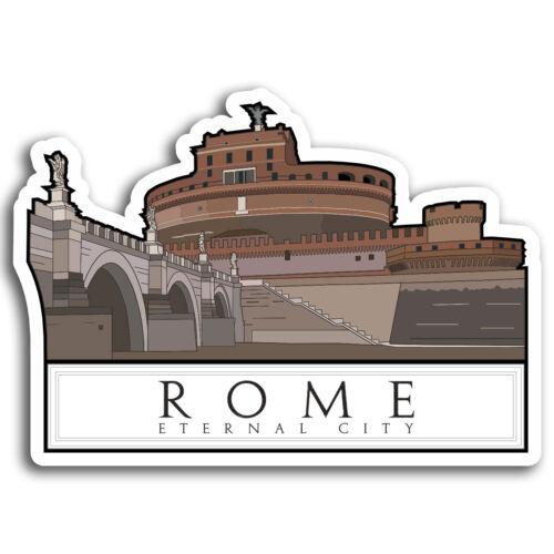 City Travel Sticker Laptop Luggage #17035 2 x 10cm Rome Italy Vinyl Stickers