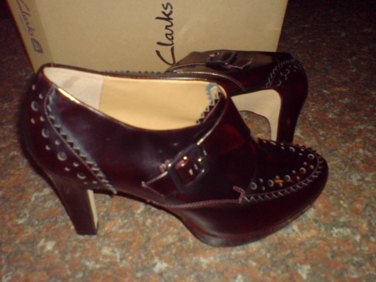 Clarks Da Donna Softwear ** BEA Karob ** Softwear Donna ** Vino In Pelle ** Uk 6.5 D 0c060d