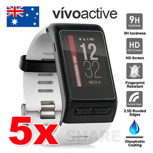 5X-LCD-For-Garmin-Vivoactive-HR-Tempered-Glass-Screen-Protector-9H-Hardness