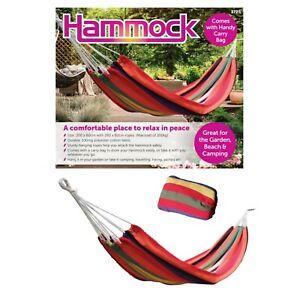 Cama-de-Camping-Hamaca-Colgante-Jardin-Al-Aire-Libre-de-viaje-Swing-280x80cm-con-bolsa-de-transporte