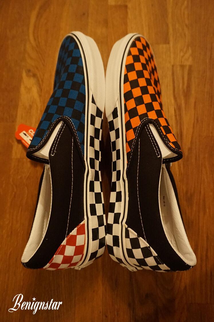Herren Schuhe Vans Old Skool Checkerboard Frost Grau