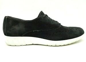 munro sport black leather casual lace up oxford sneakers