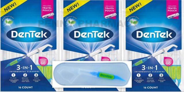 Ct Pick 3 >> Dentek 3 In 1 Proxabrush Flosser Pick Combo 16 Ct 3 Pack
