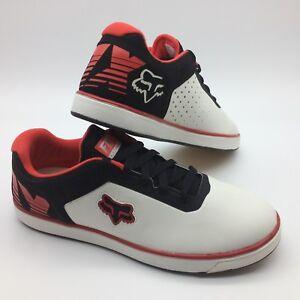 Fox-Men-039-s-Shoes-034-Motion-Transfer-034-Wht-Blk-Red-Blanc-Noir-Rouge
