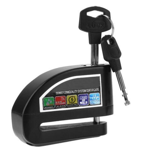 Waterproof Motorcycle Bicycle Anti-theft Wheel Disc Brake Lock w// Security Alarm