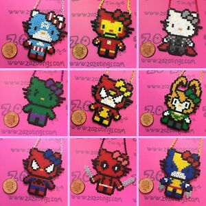 Marvel-Hello-Kitty-Superhero-Necklaces