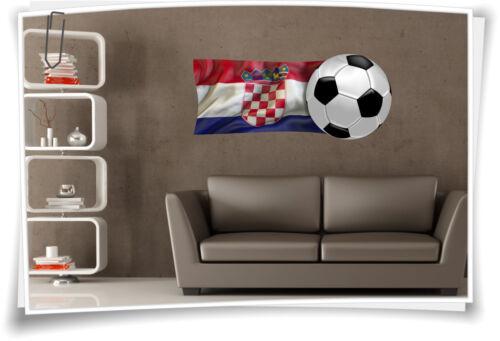 Imagen de pared croacia bandera pegatinas bandera fútbol pegatinas deporte em WM trofeo