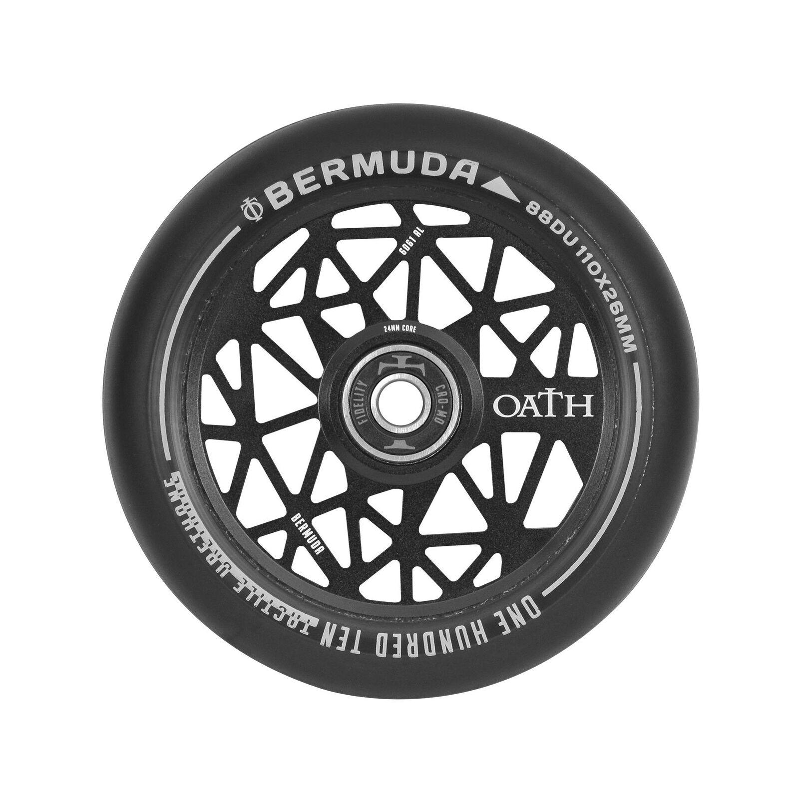 Oath Bermuda Rollerräder Rollerräder Rollerräder (Paar) 110mm - Satin Schwarz c7e537