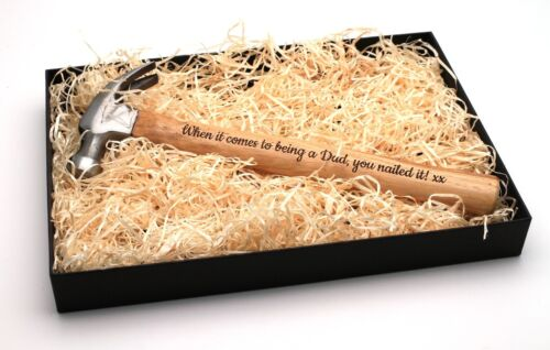 Personalized Engraved Hammer /& Gift BoxChristmas Fathers Valentines Present