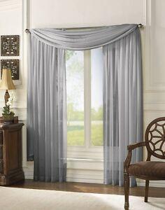 Image Is Loading Sheer Scarf Window Treatments Curtains Drape Valances 63