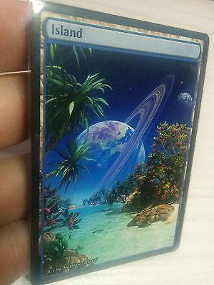 1x Island #3 Extended Textless Full Art Custom Altered Basic Land GnD Cards