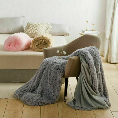 Lush Soft Hug and Snug Cuddly Cosy Warm Sofa Bed Blanket Throws Double King