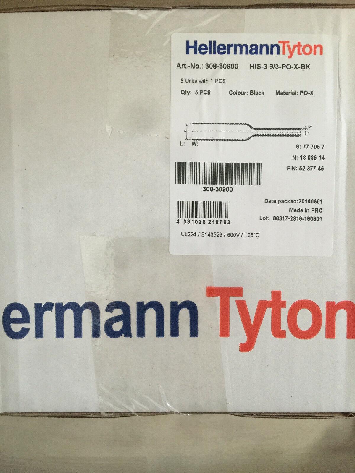 1 Stk Hellermann HIS-3-9//3-PO-x-BK Schrumpfschlauch 3:1 schwarz 308-30900