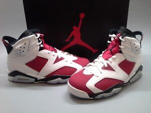 Size-8-New-2014-Air-Jordan-Retro-6-VI-Carmine-Red-Black-White-384664-160-NIB