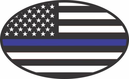 BLUE LIVES MATTER SUPPORT FLAG STICKER POLICE DECAL WINDOW BUMPER