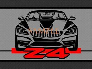 BMW Z4 Z 4 Car Black Sketch Graphic Art Home Garage Doormat Door Mat Floor Rug
