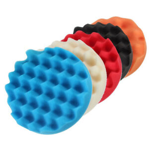 5Pcs-6-034-Sponge-Buffer-Waffle-Polishing-Foam-Buffing-Pads-Set-For-Car-Polisher-WS