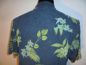 rare-Tommy-Bahama-Hawaiian-Silk-Hawaii-Hemd-aus-Seide-surfer-shirt-Gr-M-L