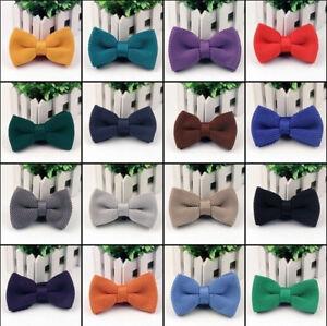 Net-tricote-Cravate-Pour-Hommes-Pre-Noue-N-ud-Papillon-mariage-Bal-Soiree