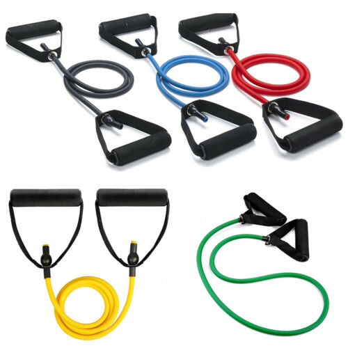 120CM Yoga Pull Rope Latex Elastic Resistance Bands Fitness Workout Equipment