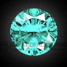 Exquisite ROUND cut shape Russian Diamond Simulant solitaire fancy COLOUR