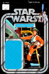 custom star wars vintage 20-back luke skywalker xwing pilot lego card back 39060 | ebay